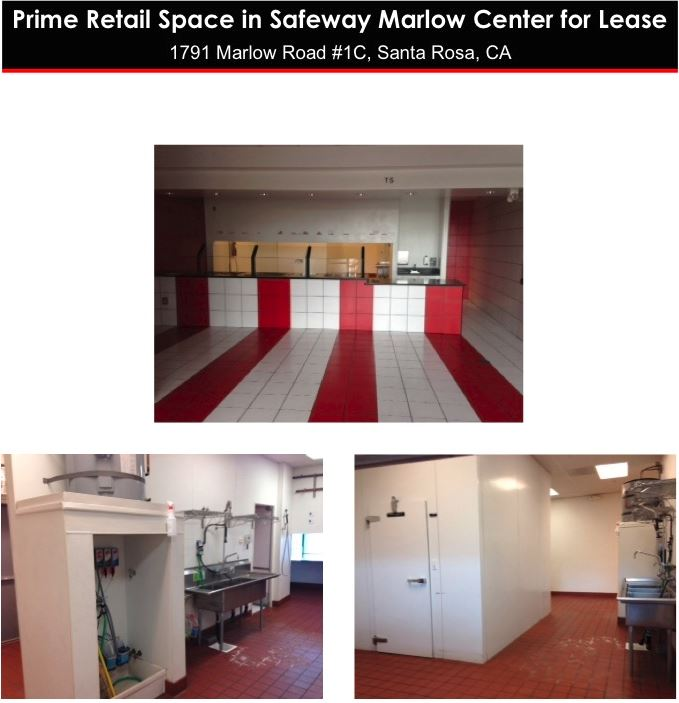 Retail Space for Lease Santa Rosa Marlow Center